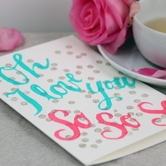 Theeduif Valentijnsdag kaart